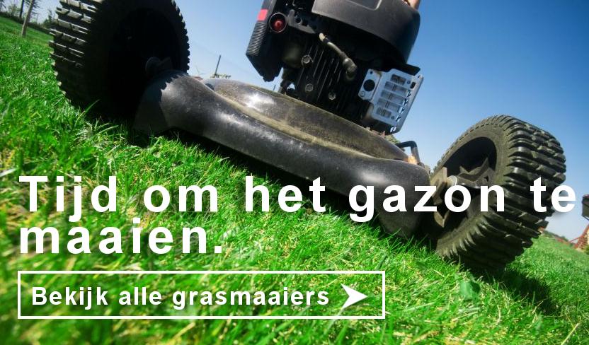 Tijd om het gazon te maaien! Bekijk alle grasmaaiers.