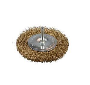 Staalborstel voor boormachine 100mm plat