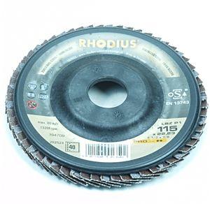 Lamellenschijf / lamellenschuurschijf 115MM / Korrel 40 (Rhodius)