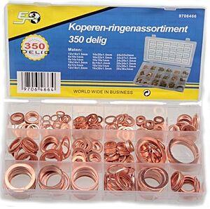 Assortiment koperen ringen 350dlg