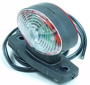 Breedtelamp halfrond LED (10-30v)