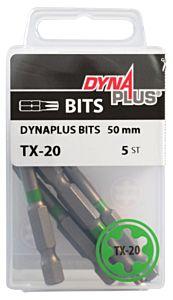 Dynaplus schroefbit TX20 lang 50mm - 5 stuks