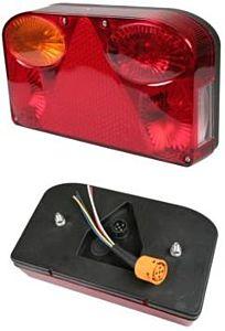 Verlichting caravan achterlicht links (rood) DELUXE