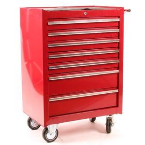 Gereedschapswagen 7 laden rood hoog model