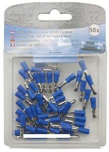 Kabelschoenen 50 delig man rond 2.5 => 4 blauw