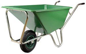 Kruiwagen gegalvaniseerd 80L met anti-lek wiel