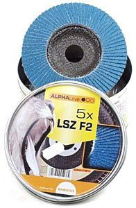 Lamellenschijf LSZ125 / K80 5 stuks in blik (Rhodius)