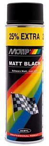 Motip mat zwart - spuitbus 500ML