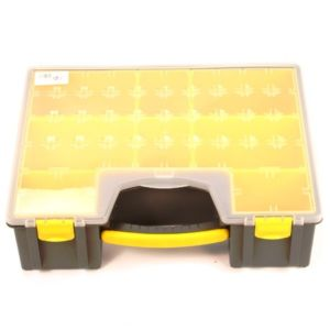 Opbergkoffer / opbergbox kunststof / assortimentsdoos 420x334x115 mm