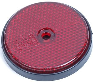 Reflector rond rood 60mm