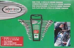 Ringsteeksleutelset 12 dlg Chrome vanadium (6 t/m 22mm)