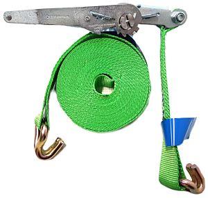 Spanband / sjorband 5 ton - 9mtr + ratel en haken