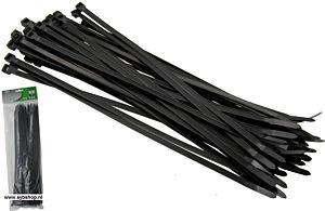 Tie-ribs / Kabelverbinders 4.8x430mm zwart (100 DLG)