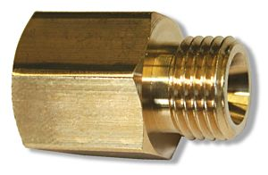 "Verloopnippel W24,32 x 1/14""R (inw) - W21,8 x 1/14""R (uitw) l t.b.v. reduceerventiel"
