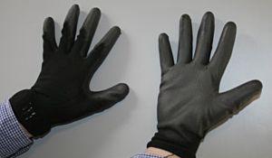 Werkhandschoen zwart PU Flex maat L (9)