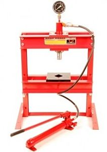 Werkplaatspers 12 ton Prof. tafel model (met manometer)
