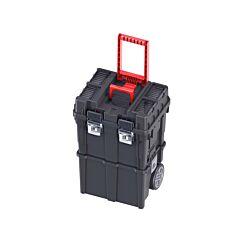 Rolbox / gereedschapswagen kunststof compact deelbaar