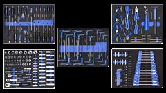 189 delige gereedschapsset / foam inlay voor gereedschapswagens