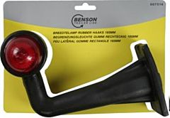 Breedtelamp rubber haaks model 185MM rood/wit