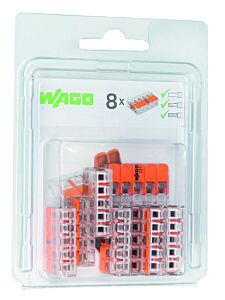 Wago 5V verbindingsklem 8 stuks