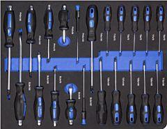 Schroevendraaierset 21DLG inlay foam voor gereedschapswagen
