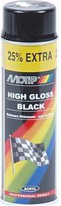 Motip hoogglans zwart - spuitbus 500ML