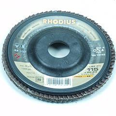 Lamellenschijf / lamellenschuurschijf 115MM / Korrel 80 (Rhodius)