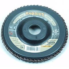 Lamellenschijf/ lamellenschuurschijf 125MM / Korrel 40 (Rhodius)