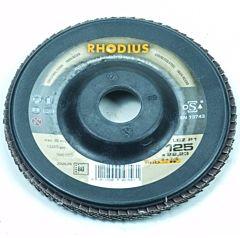 Lamellenschijf / lamellenschuurschijf 125MM / Korrel 80 (Rhodius)