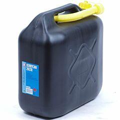 Jerrycan 20 liter kunststof zwart