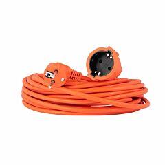 Verlengsnoer / tuinsnoer oranje 2x1.0mm 20 meter