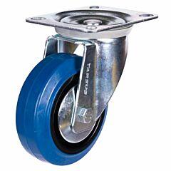 Zwenkwiel heavy 100mm blauw model