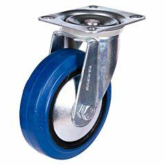 Zwenkwiel heavy 125mm blauw model