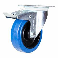 Zwenkwiel heavy + rem 160mm blauw model