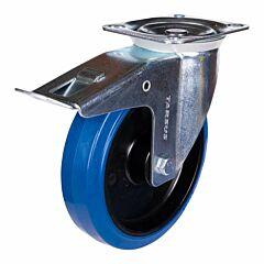 Zwenkwiel heavy + rem 200mm blauw model