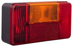 Verlichting caravan achterlicht links (rood)