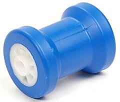 Kielrol blauw 130x90mm - asgat 22mm