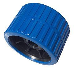 Bootrol / kimrol / zijrol blauw 120x75 mm - asgat 15mm