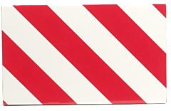 "Bord ""lange lading"" plastic 20 x 30 cm"