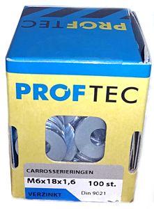 Carrosseriering VZ DIN9021 M6 (100 stuks)