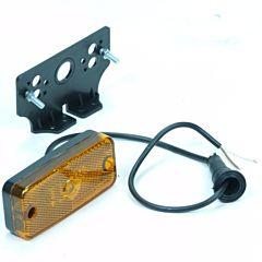 Contourverlichting oranje LED met hoeksteun 12/24 volt