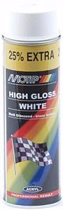 Motip hoogglans wit - spuitbus 500ML