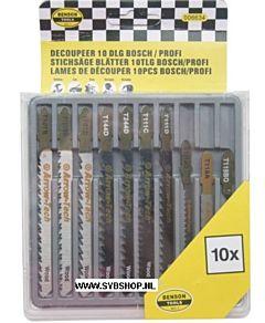 Decoupeerzagen 10 Delig (Bosch / T- aansluiting)
