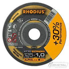 Doorslijpschijf Metaal+RVS 125x1.0 RHODIUS (1 stk)