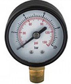 Manometer / drukmeter 50mm verticaal t.b.v. compressor