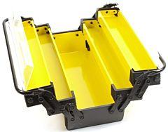 Gereedschapskist metaal geel 515x210x230