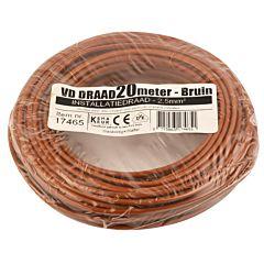 VD Draad 2.5mm² 20 meter bruin
