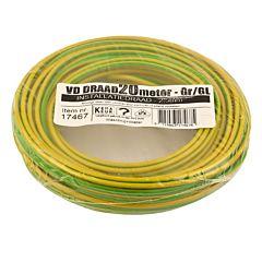 VD-Draad 2.5mm² 20 meter geel/groen