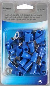 Kabelschoenen 50 delig ring 2.5 => 6 blauw foto 1