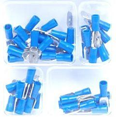 Kabelschoen man plat blauw 50 delig
